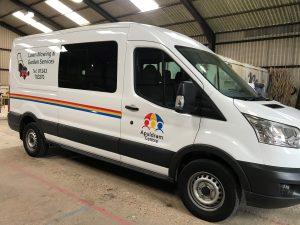 New contract gardening van
